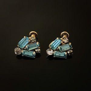 ✨Stunning VTG Custom Sparkly Screw On Earrings